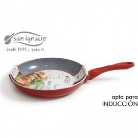 sarten cerámica 28cm soft touch rojo san ignacio