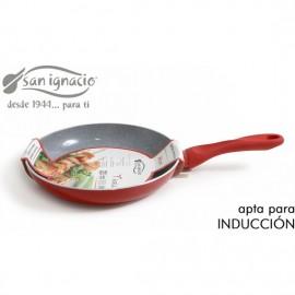 sarten cerámica 26cm soft touch rojo san ignacio