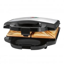 clatronic sandwichera st 3628 negra inox