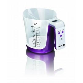 fagor bc 500 balanza cocina con bol medidor extraible capacidad 3kg