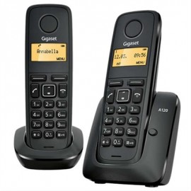 TELEFONO INALAMBRICO GIGASET A120 DUO NEGRO