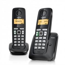 TELEFONO INALAMBRICO GIGASET A220 DUO NEGRO