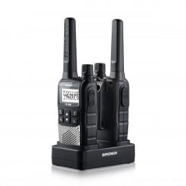 brondi walkie talkie fx 490 negro plata