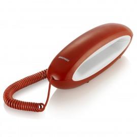 brondi teléfono fijo dolphin rojo
